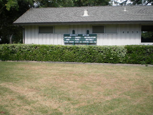 Arcade Creek Recreation and Park District Office located at 4855 Hamilton St. Sacramento, CA 95841