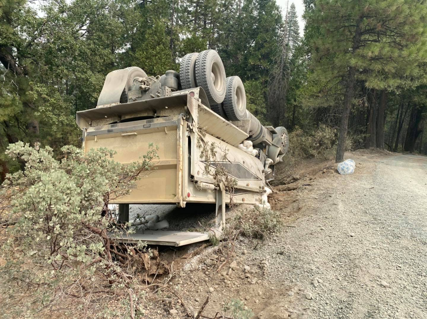 September 2020 - Responded to an overturn truck accident with injury.