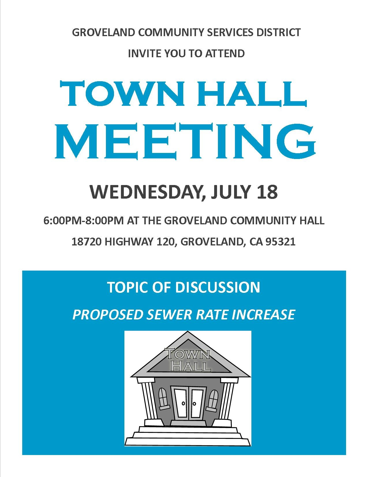 Town Hall Meeting Groveland Community Services District