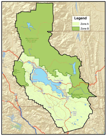 Map of Lake County