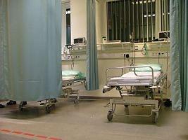 May contain: hospital