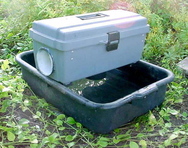 May contain: appliance, cooler, grass, and plant