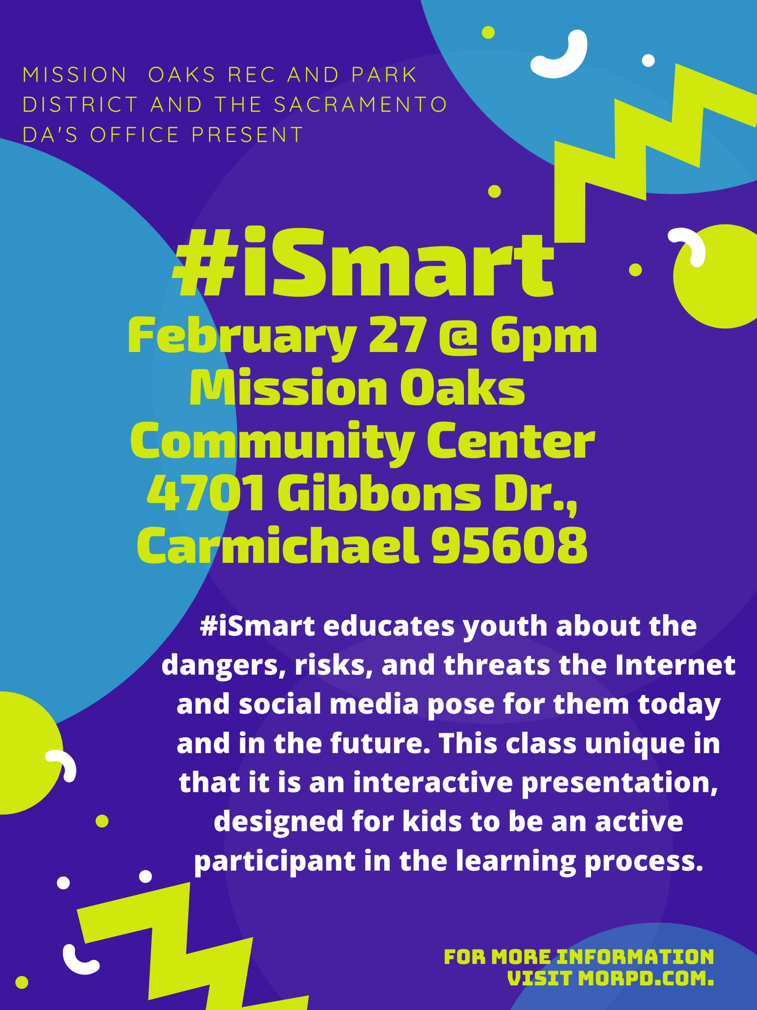 Flyer about #iSmart classes