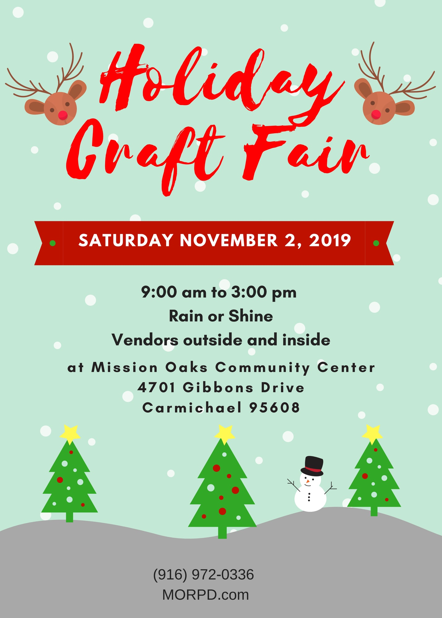 Christmas In The Oaks 2019.Craft Fair Mission Oaks Recreation Park District