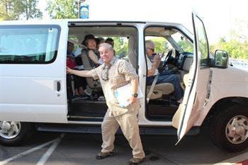 May contain: person, human, van, transportation, and vehicle
