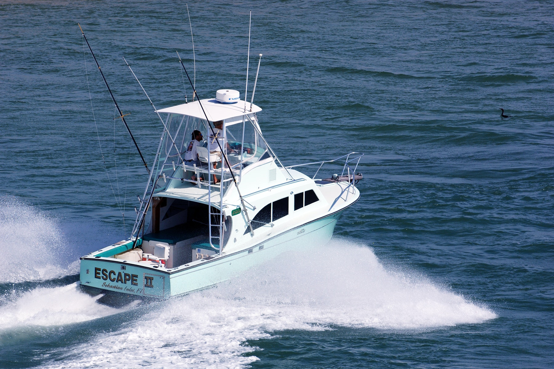 Boat named Escape II headed out to the Atlantic Ocean