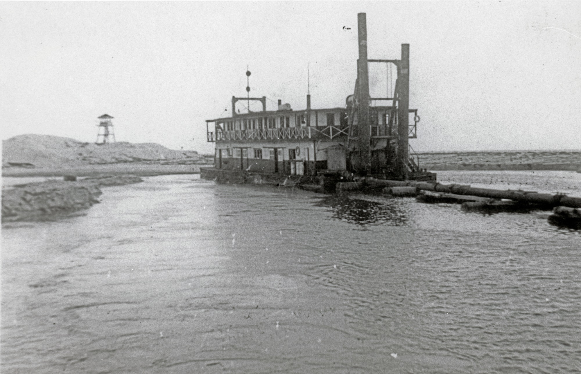 picture of dredge vessel named Summer Dade from 1948