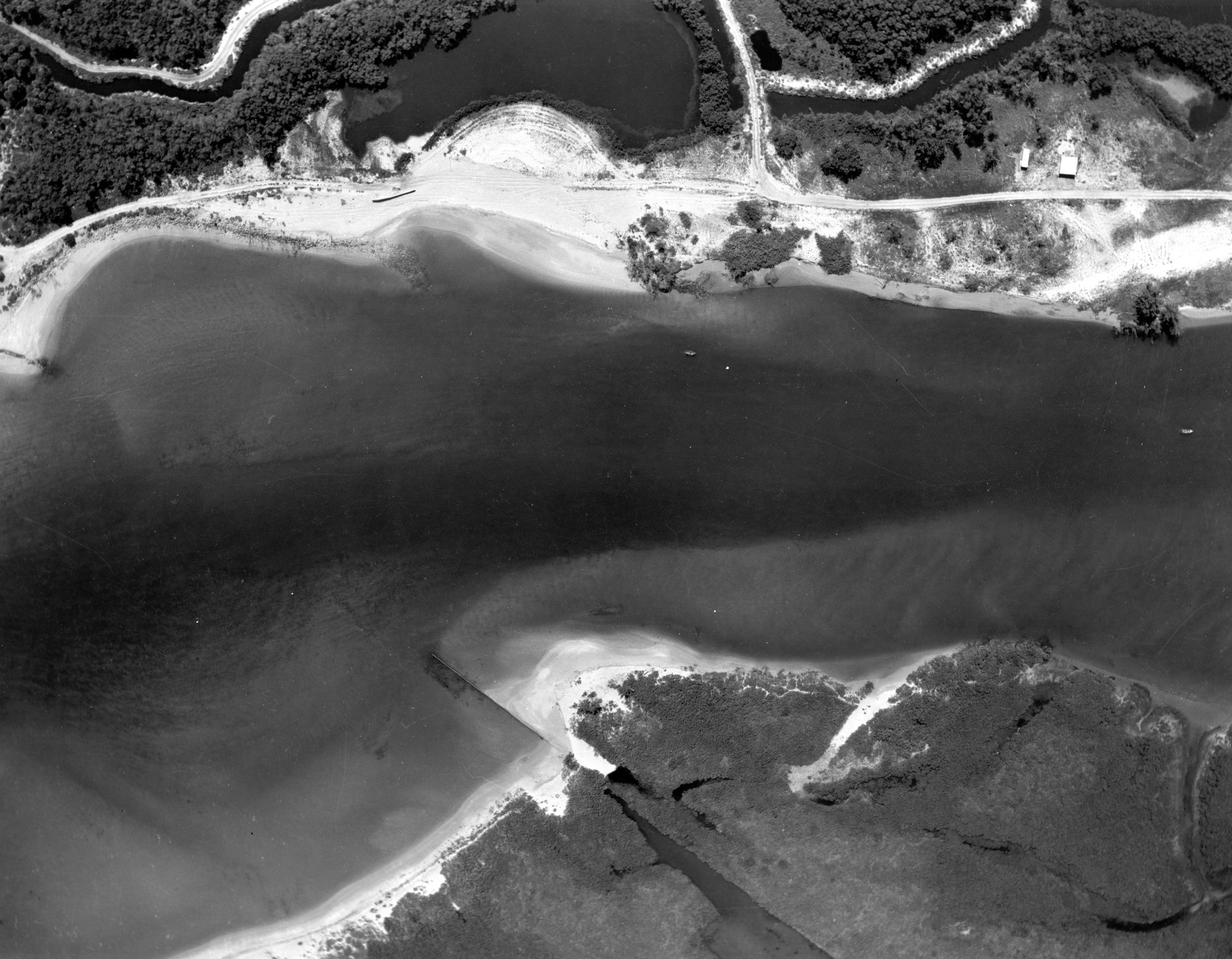 aerial photo looking straight down at inlet throat