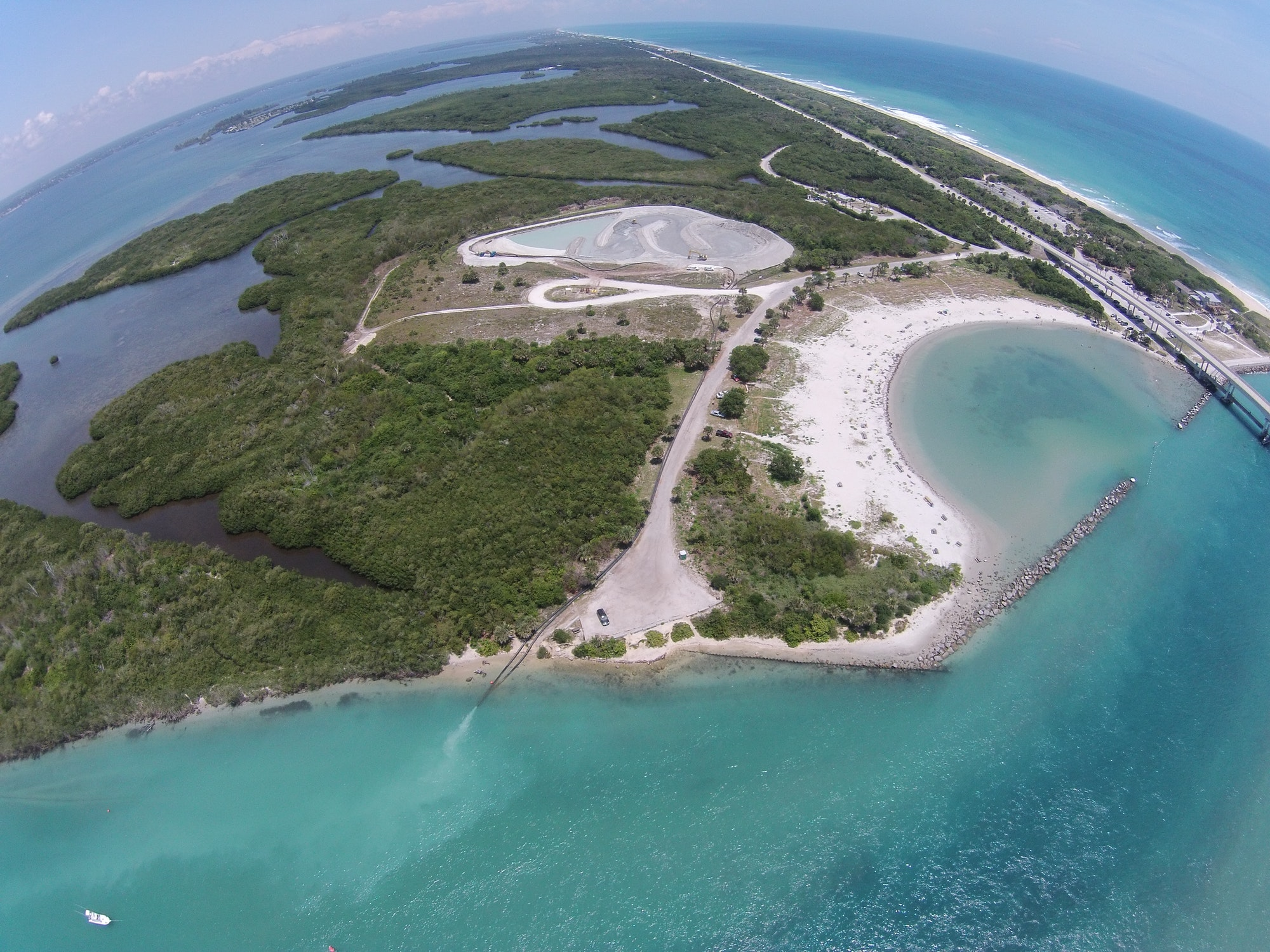 aerial view of tide pool looking North