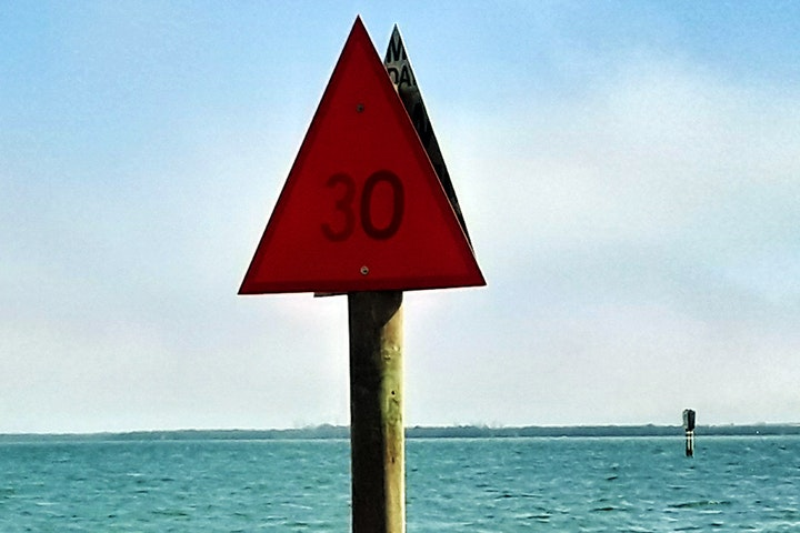 waterway channel marker with red triangle dayboard #30