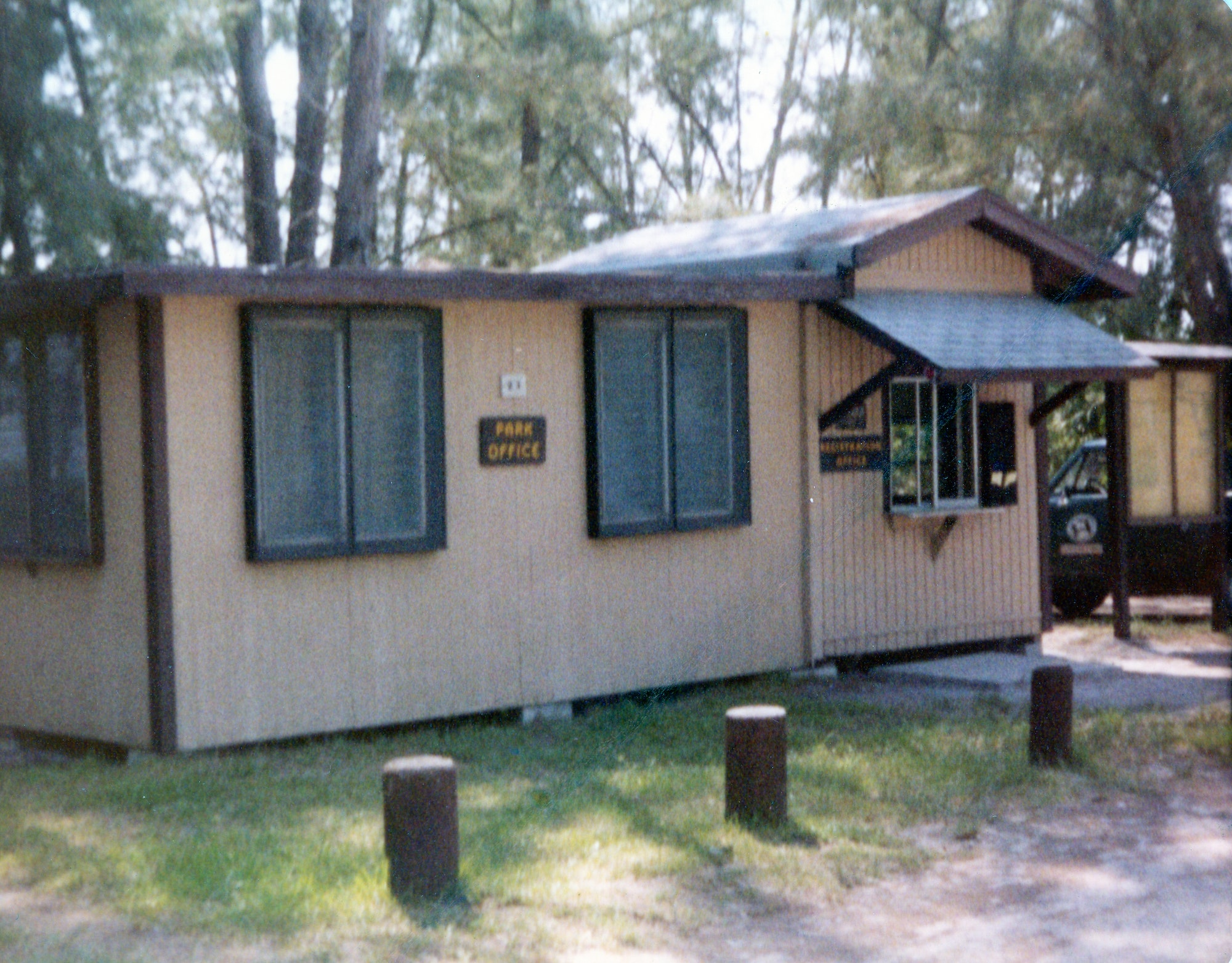 Ranger offices at Sebastian Inlet State Park from 1970s