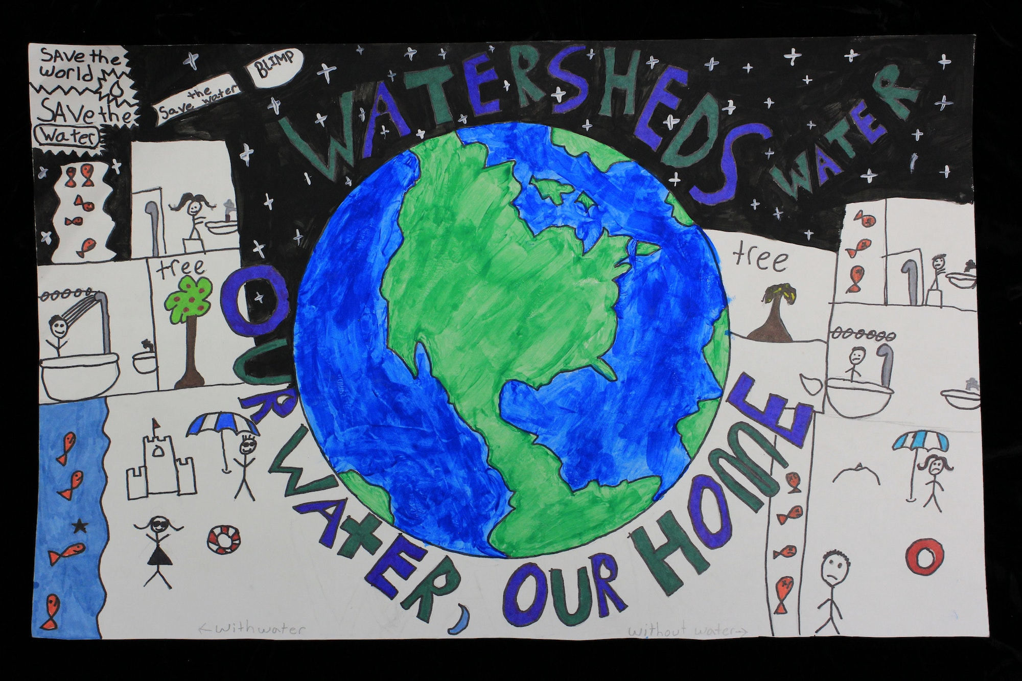 Winning 2018 poster for grade 5 by Alexandra Mattas of Mojave.