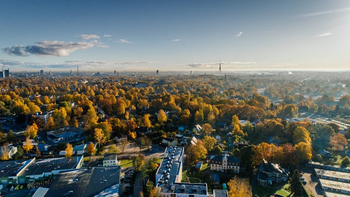May contain: nature, landscape, outdoors, scenery, aerial view, and urban