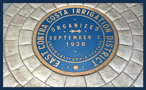 "Sign with ""East Contra Costa Irrigation District, Organized september 3, 1926"""