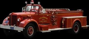May contain: fire truck, truck, vehicle, transportation, person, and human
