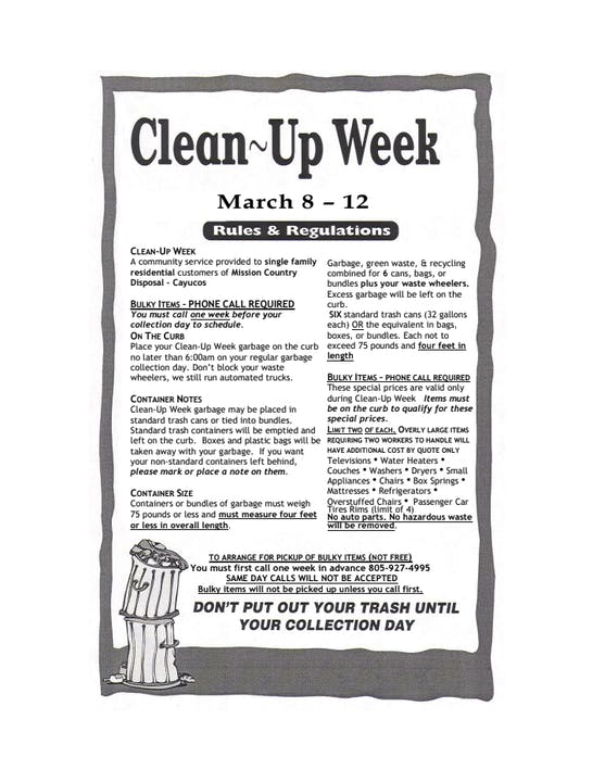 Clean-Up Week Flyer