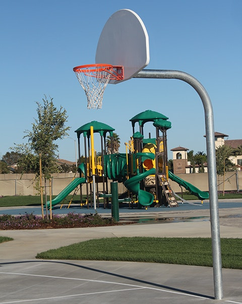 Mel Vincent Park basketball hoop and playground