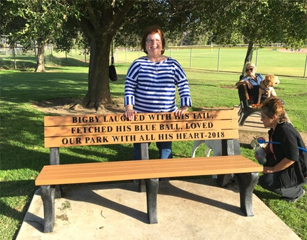 Dog Park bench dedication