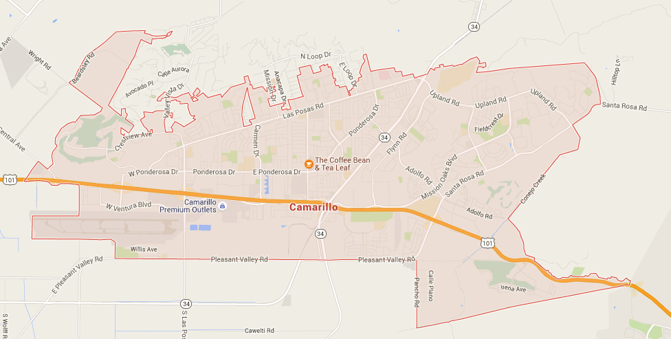 Camarillo map