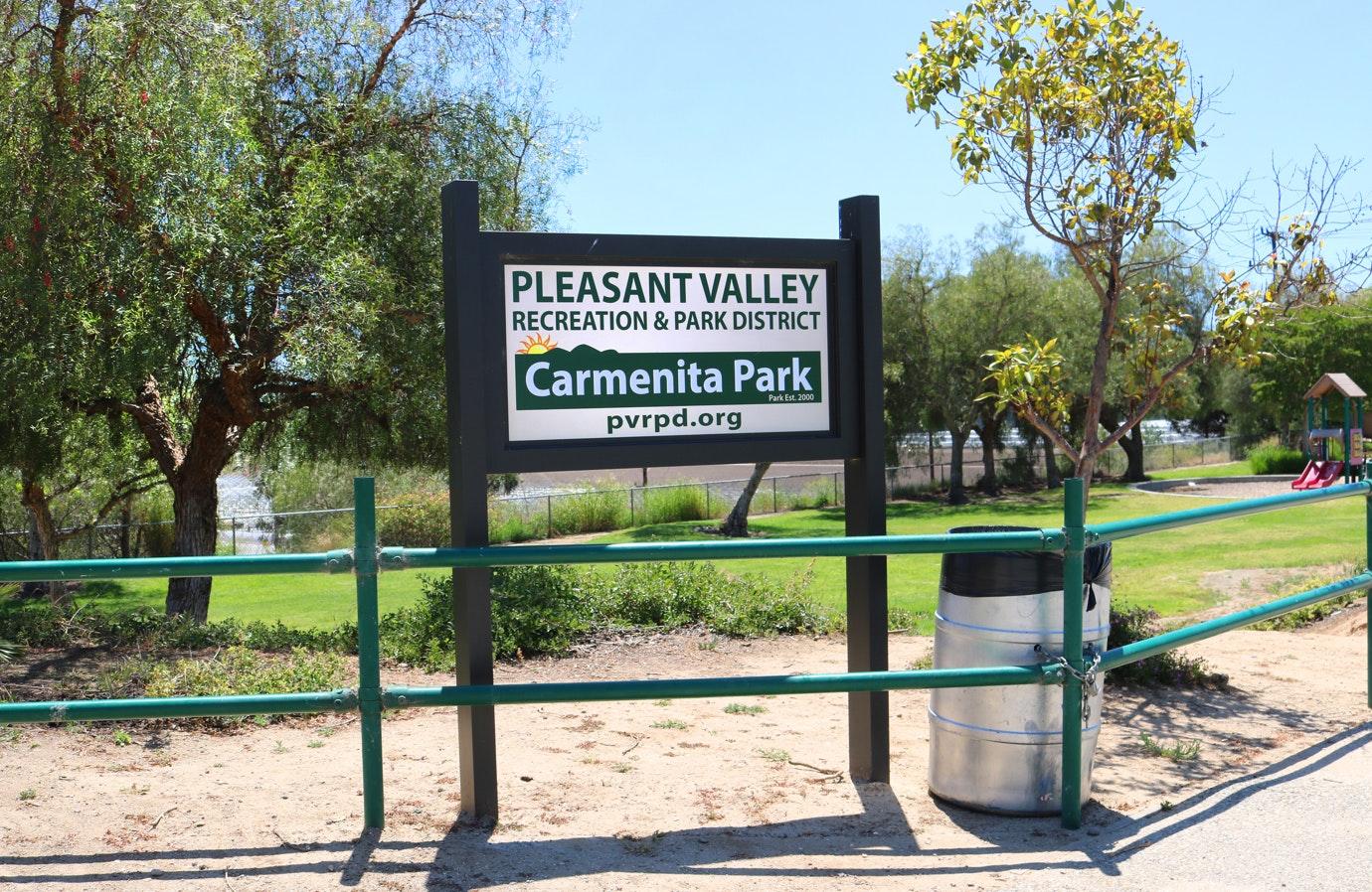Carmenita Park sign
