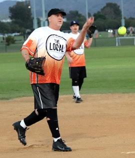 May contain: person, human, clothing, baseball, sports, team sport, softball, glove, team, sport, apparel, people, baseball glove, athlete, and ballplayer