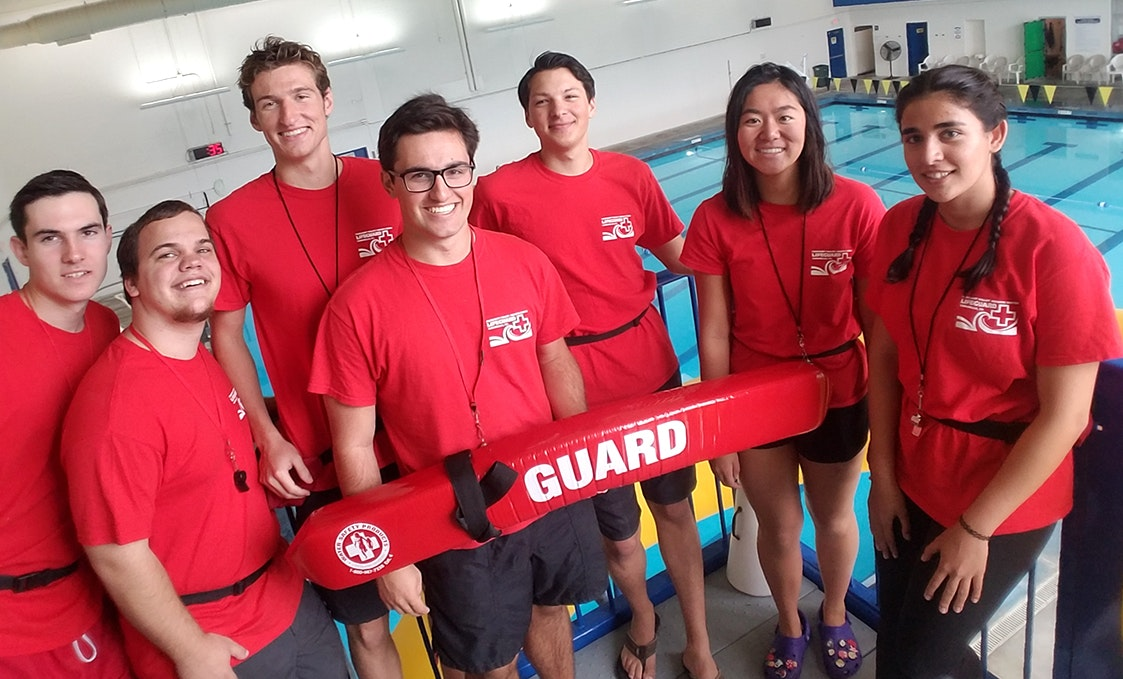 pool staff
