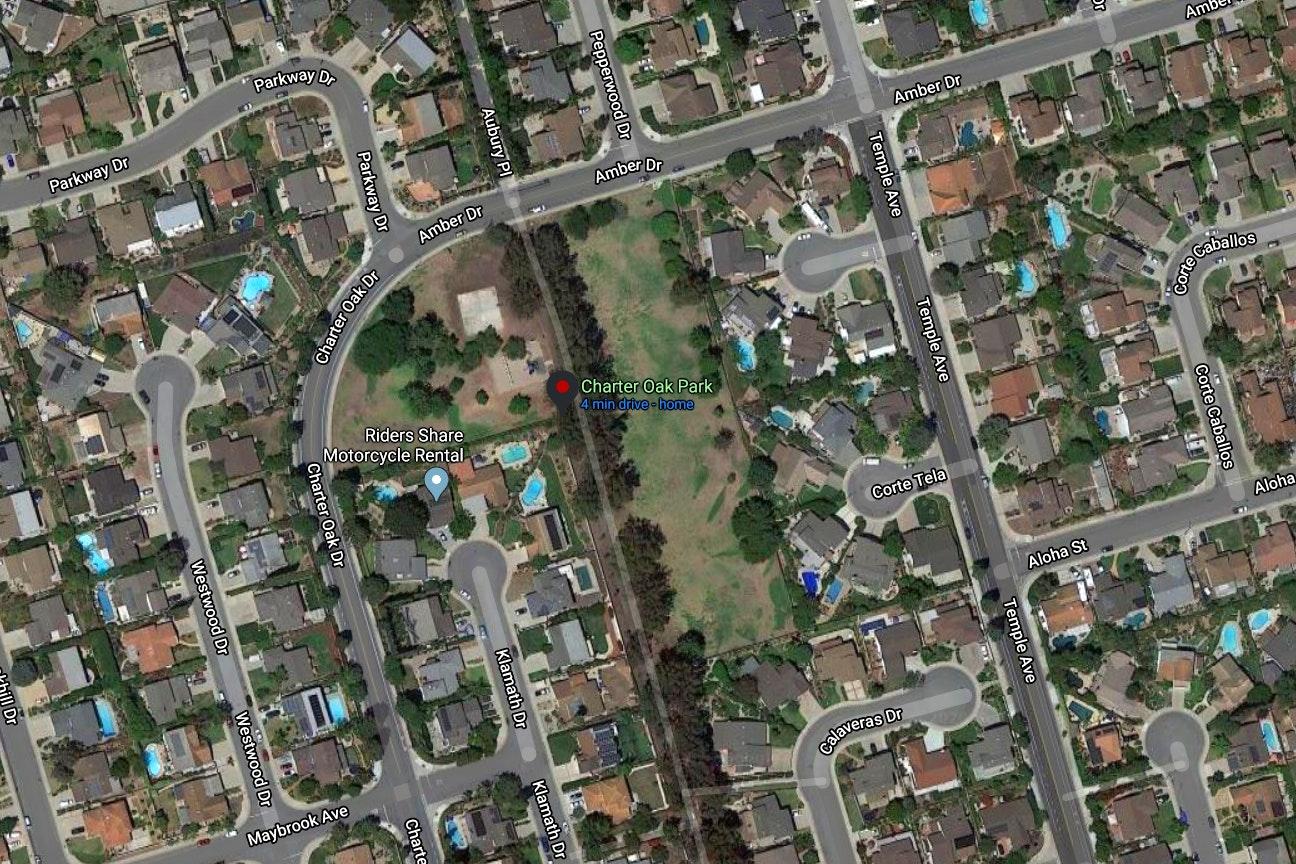 Charter Oak Park map