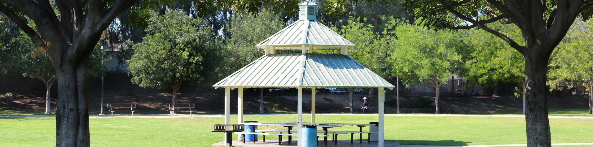 Picnic shelter at Pitts Ranch Park