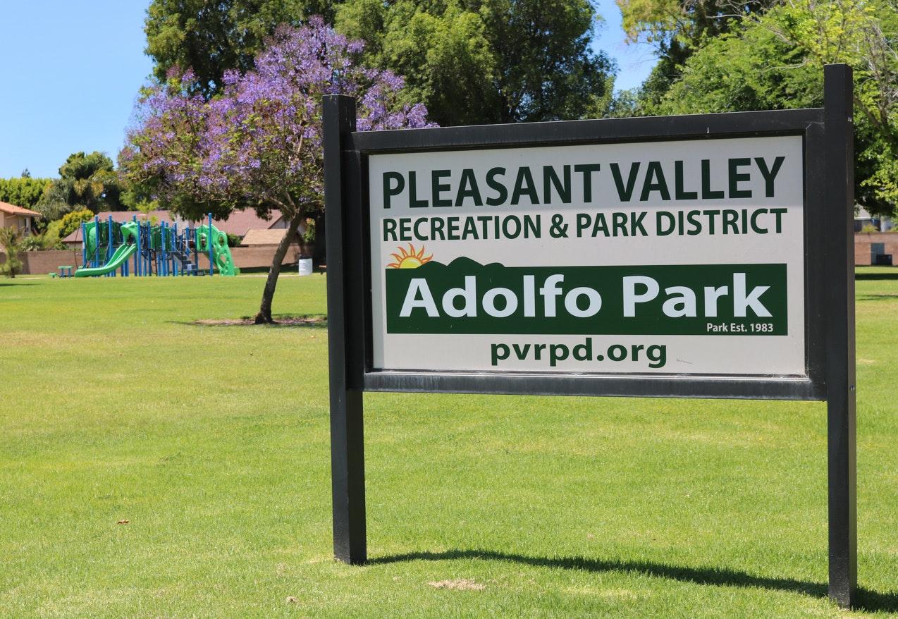 Adolfo Park sign