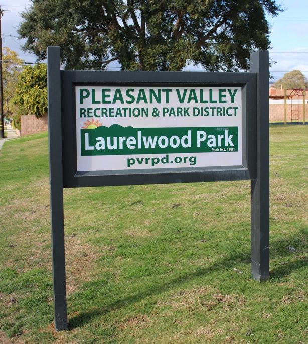 Laurelwood Park sign