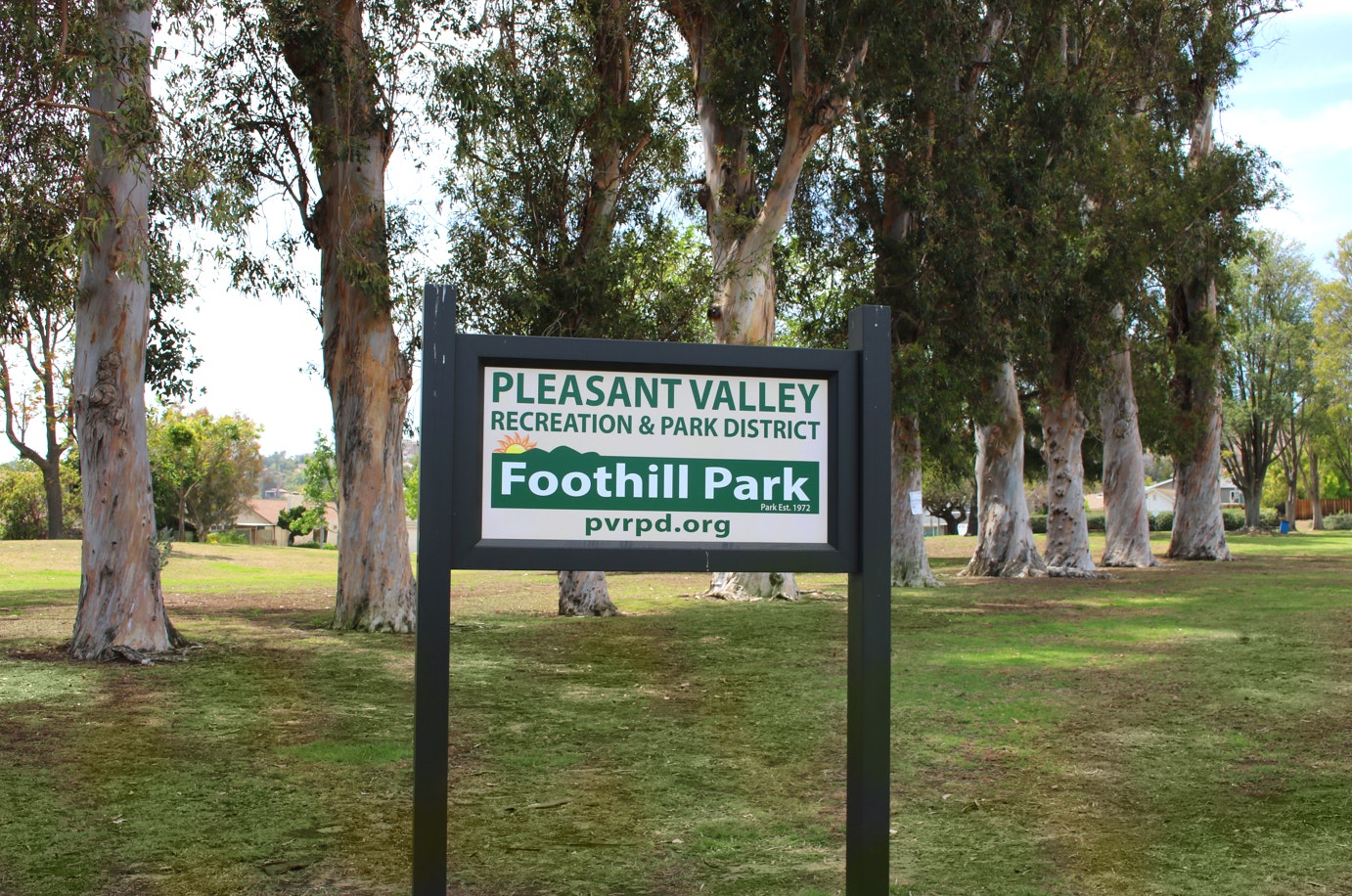 Foothill Park sign