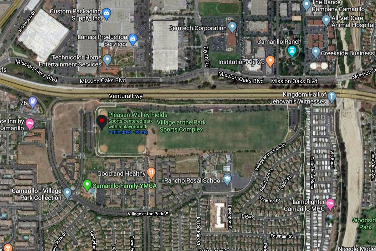 Pleasant Valley Fields map