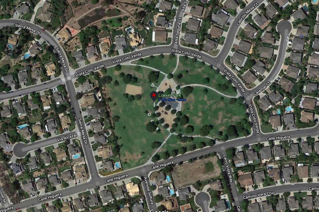 Lokker Park map