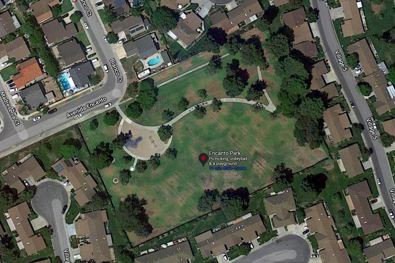 Encanto Park map