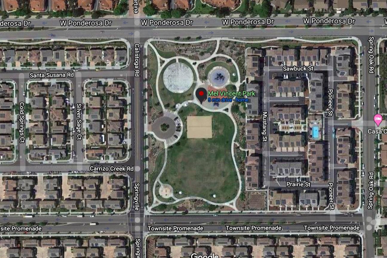 Mel Vincent Park map