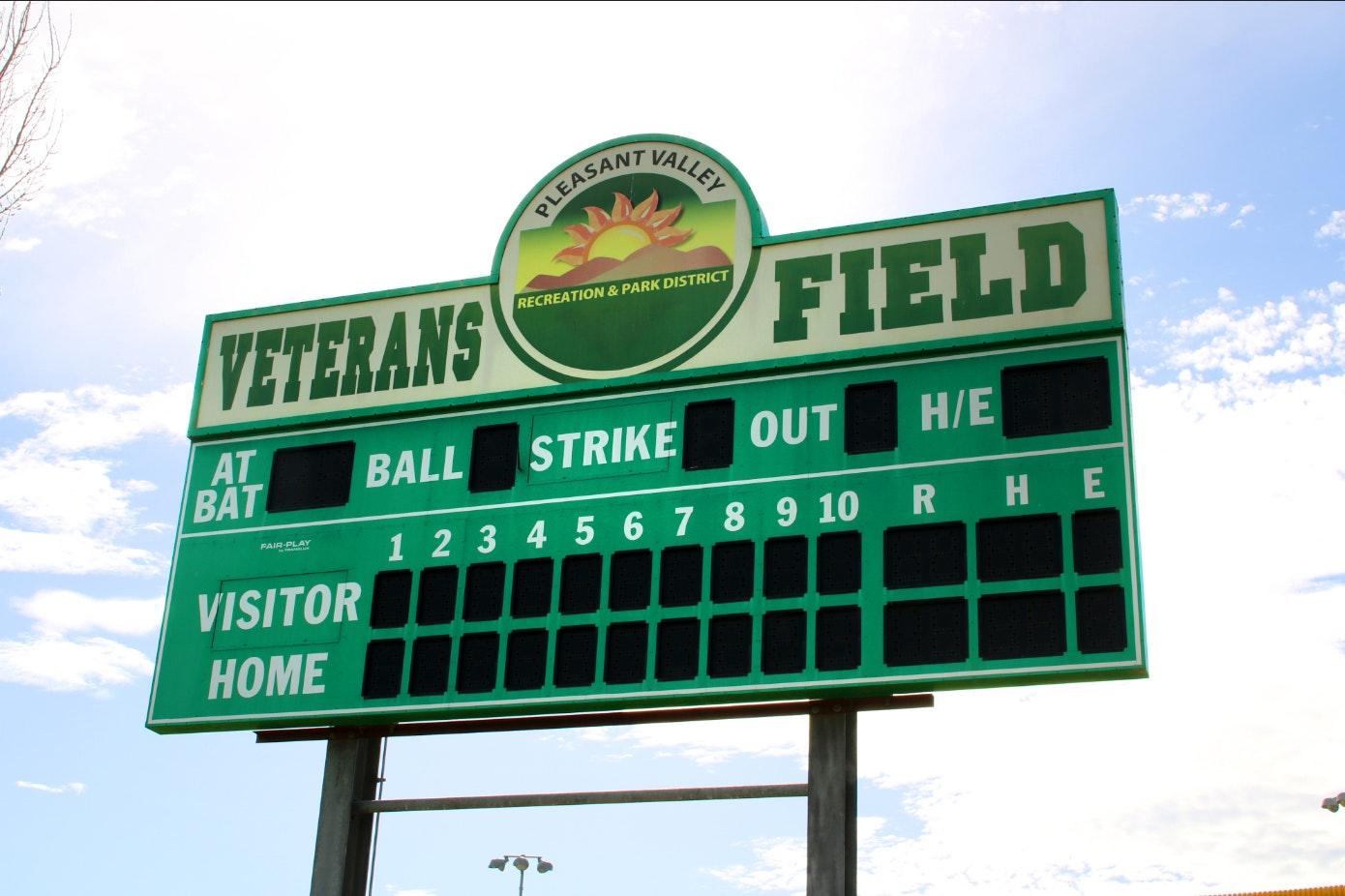 Freedom Park score board