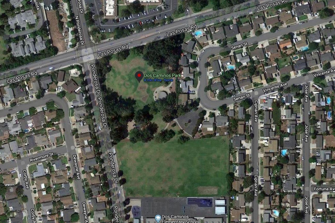 Dos Caminos Park map