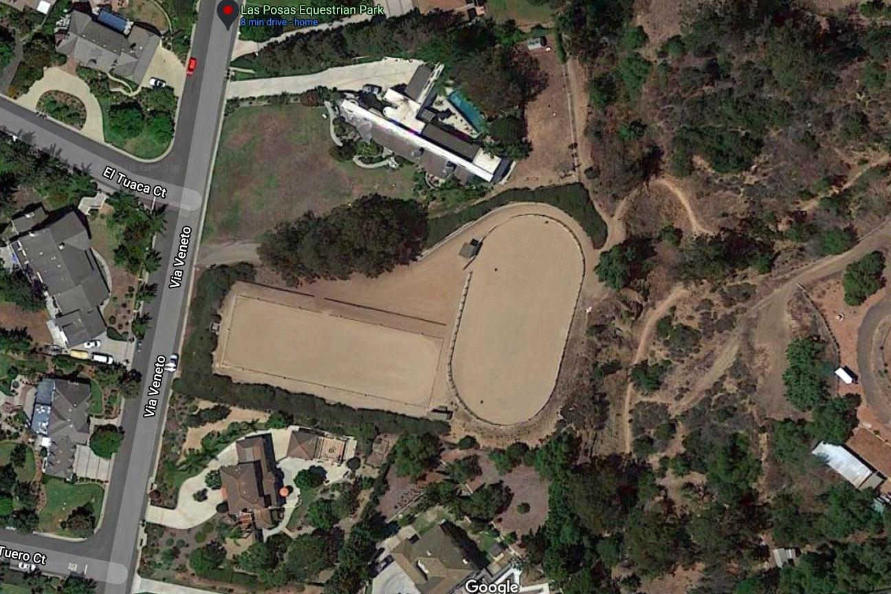 Las Posas Equestrian Park map