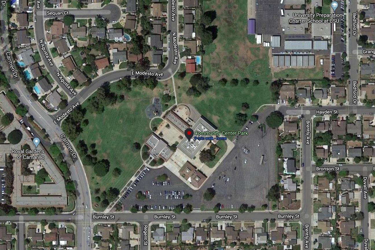 Community Center Park map