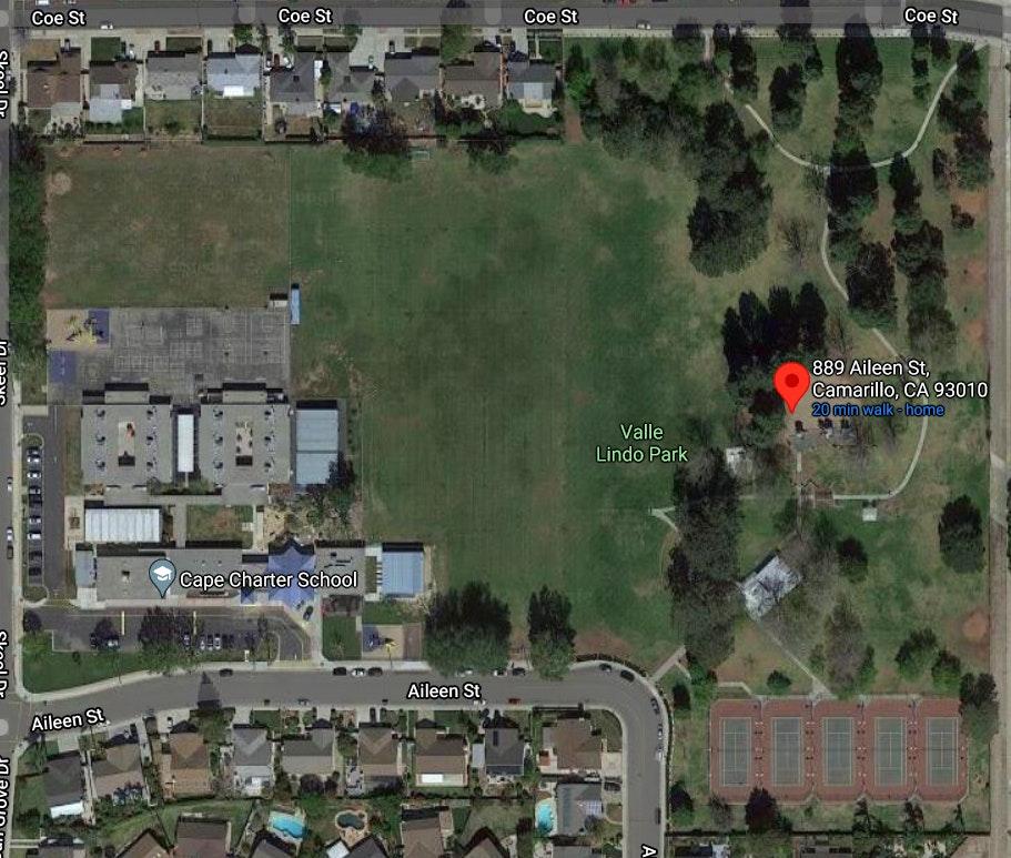 Valle Lindo Park - Google Map