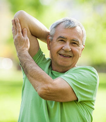 Senior stretching