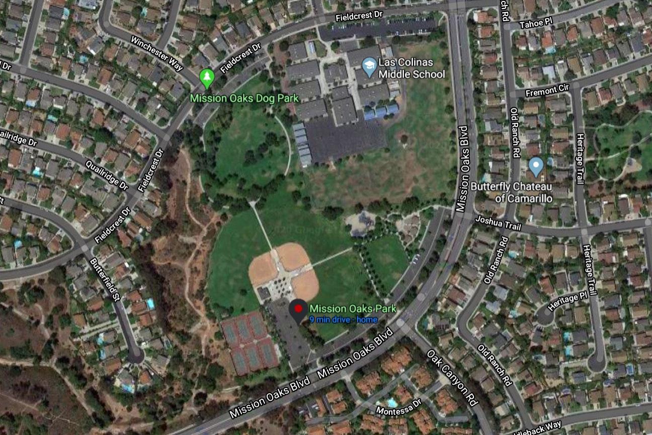 Mission Oaks Park map