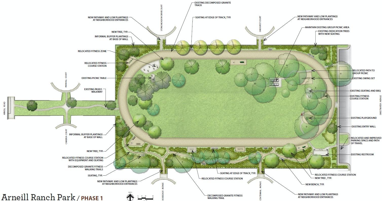 Arneill Ranch Park Renovation Map