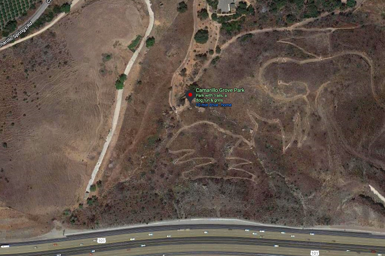 Camarillo Grove Park map