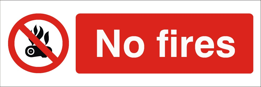 Contains symbol of no fires and No Fires