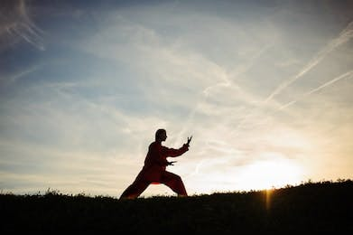 May contain: sports, person, martial arts, tai chi, sport, and human