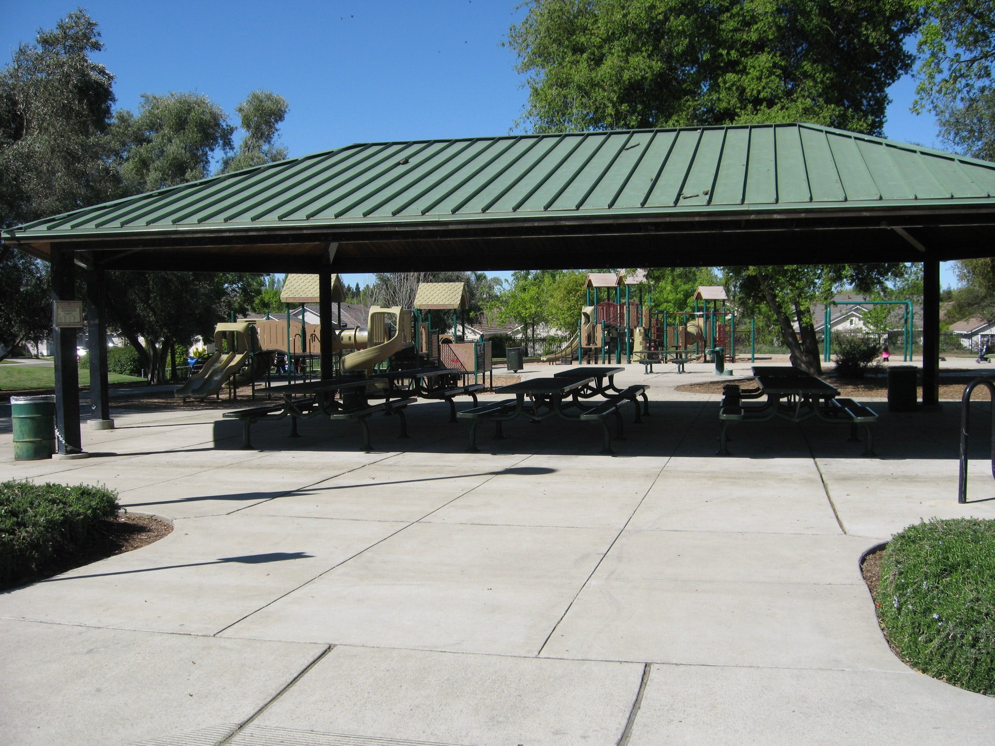 May contain: patio, porch, pergola, and flagstone