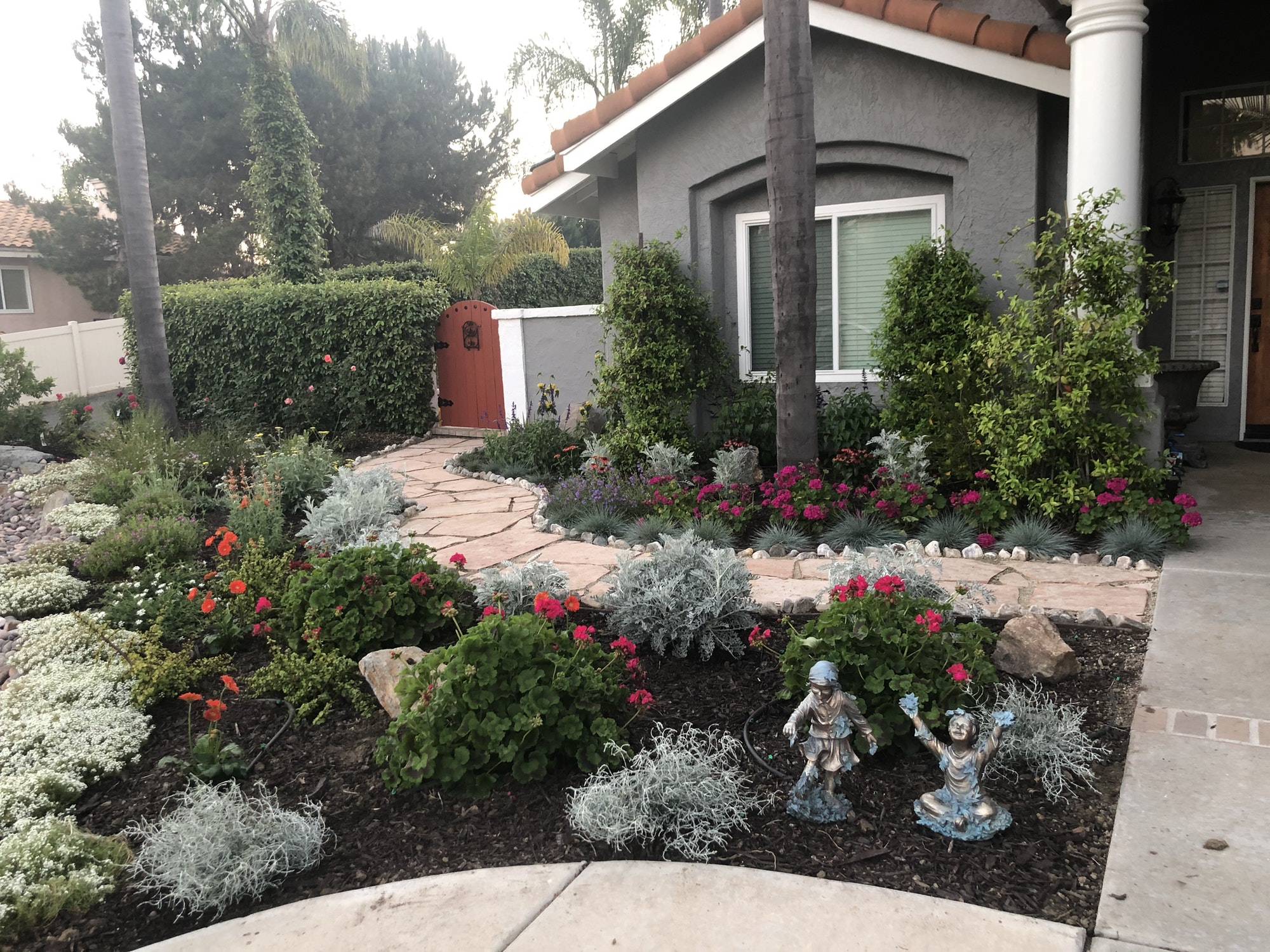 May contain: flagstone, outdoors, patio, slate, and garden