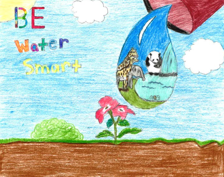 Water Smart 4th grade poster contest winner