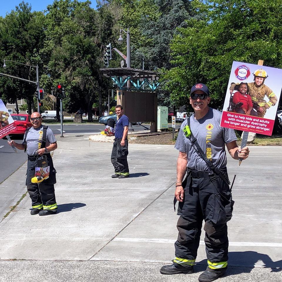 May contain: fireman, human, and person